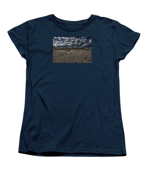 Women's T-Shirt (Standard Cut) featuring the photograph Nature Playing To An Empty Beach by Constantine Gregory