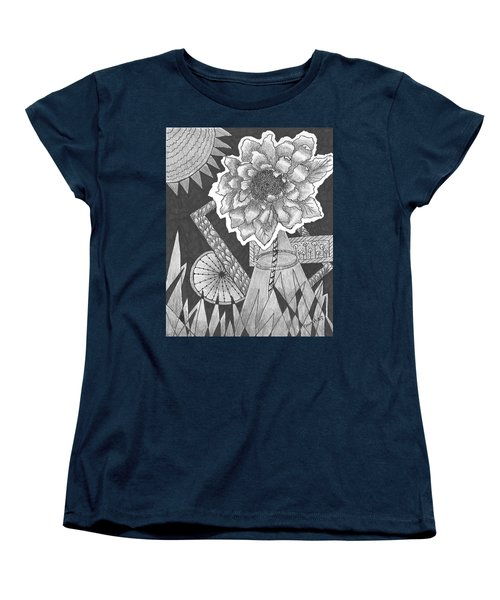 Naturemade And Manmade Shapes Women's T-Shirt (Standard Cut) by Quwatha Valentine