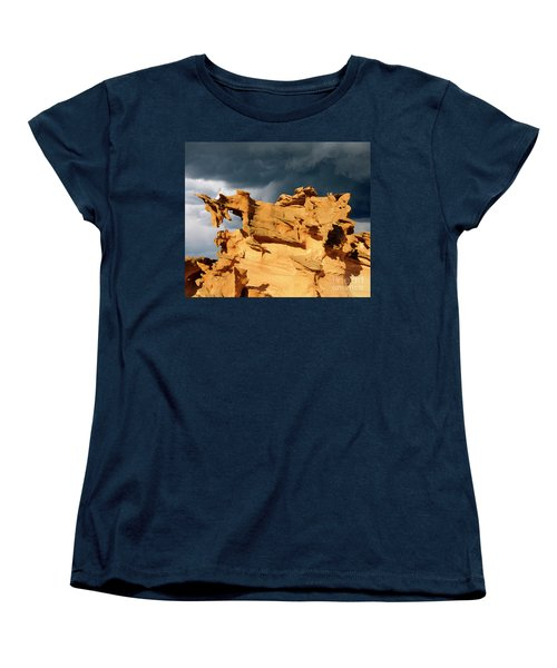 Women's T-Shirt (Standard Cut) featuring the photograph Nature's Artistry Nevada 3 by Bob Christopher