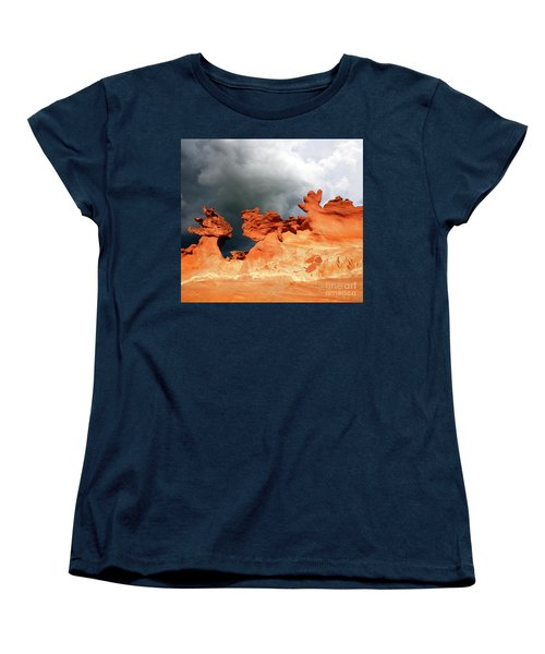 Women's T-Shirt (Standard Cut) featuring the photograph Nature's Artistry Nevada by Bob Christopher
