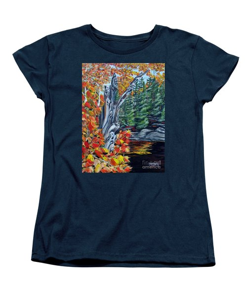 Women's T-Shirt (Standard Cut) featuring the painting Natures Faces by Marilyn  McNish