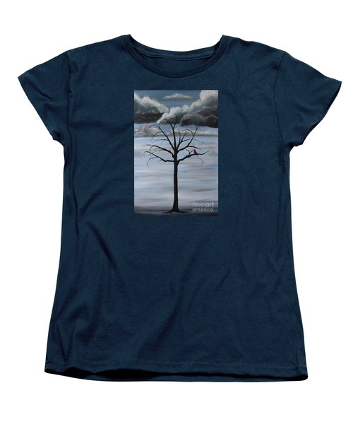 Women's T-Shirt (Standard Cut) featuring the painting Nature's Power by Stacey Zimmerman