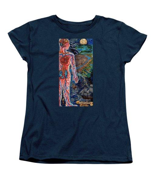 Navigation Women's T-Shirt (Standard Cut) by Emily McLaughlin