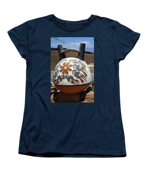 Women's T-Shirt (Standard Cut) featuring the photograph Nazca Ceramics Peru by Aidan Moran