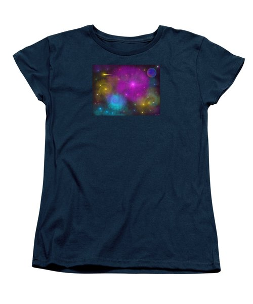 Women's T-Shirt (Standard Cut) featuring the photograph Nebula Wars by Bernd Hau