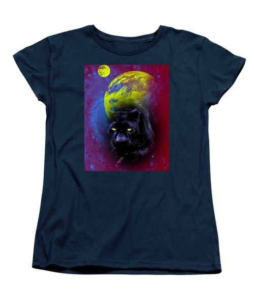 Nebula's Panther Women's T-Shirt (Standard Cut) by Swank Photography