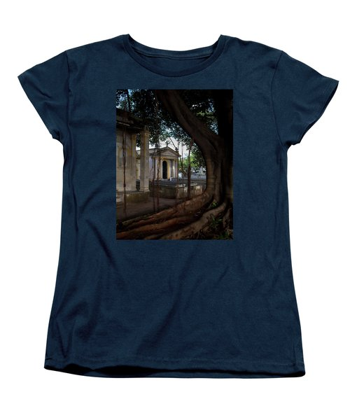 Women's T-Shirt (Standard Cut) featuring the photograph Necropolis Cristobal Colon Havana Cuba Cemetery by Charles Harden