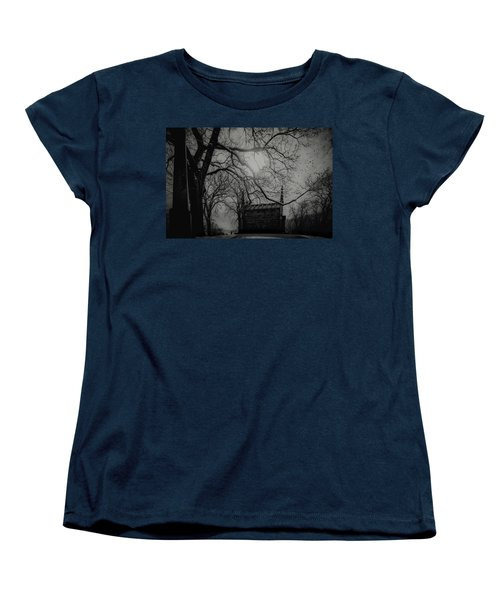 Women's T-Shirt (Standard Cut) featuring the digital art Necropolis Nine by Chris Lord