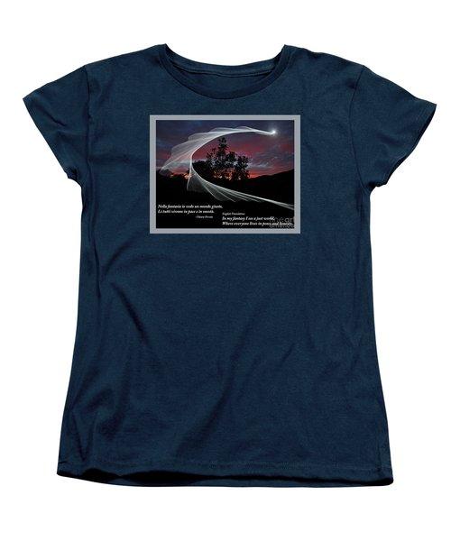 Nella Fantasia Io Vedo Un Mondo Giusto Women's T-Shirt (Standard Cut) by Jim Fitzpatrick