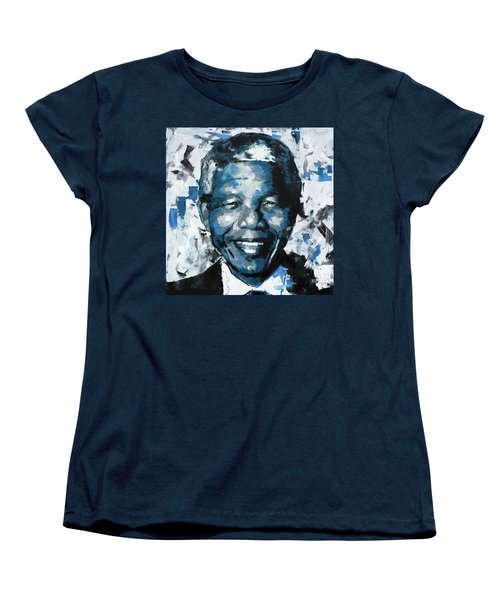 Women's T-Shirt (Standard Cut) featuring the painting Nelson Mandela II by Richard Day