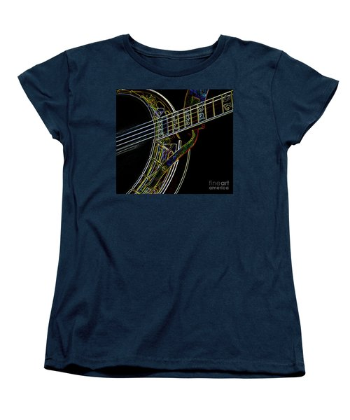 Women's T-Shirt (Standard Cut) featuring the photograph Neon Banjo  by Wilma Birdwell