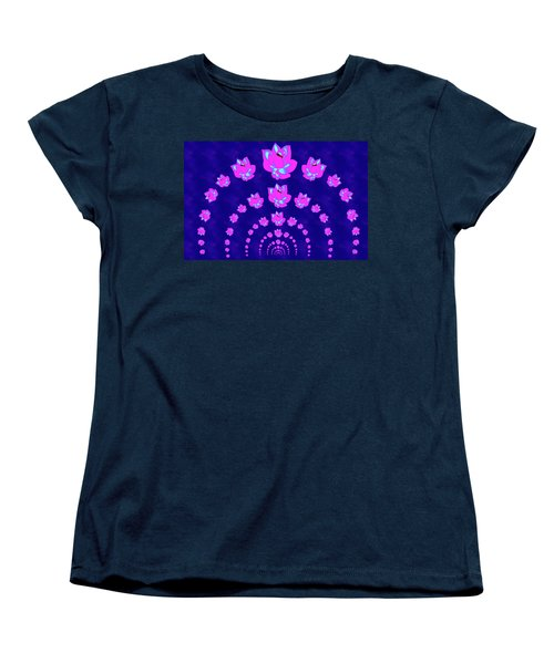 Neon Pink Lotus Arch Women's T-Shirt (Standard Cut) by Samantha Thome