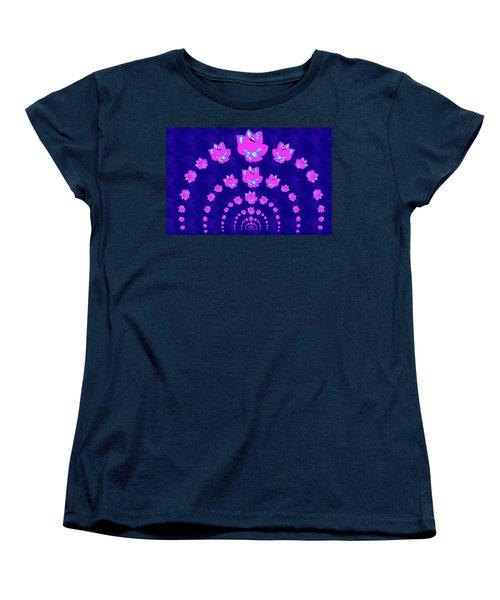 Neon Pink Lotus Arch Women's T-Shirt (Standard Cut)