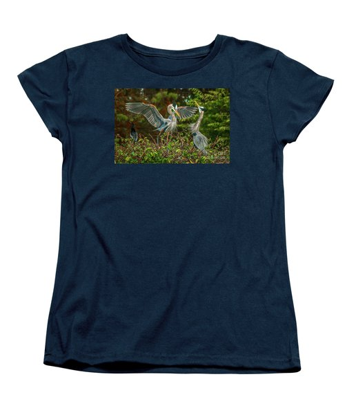 Nest Landing Women's T-Shirt (Standard Cut) by Tom Claud