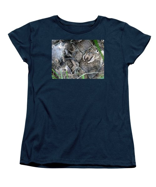 Nestled In Their Den Women's T-Shirt (Standard Cut) by Laurel Best