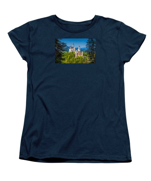Neuschwanstein Fairytale Castle #2 Women's T-Shirt (Standard Cut) by JR Photography