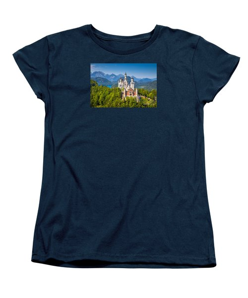 Neuschwanstein Fairytale Castle Women's T-Shirt (Standard Cut) by JR Photography