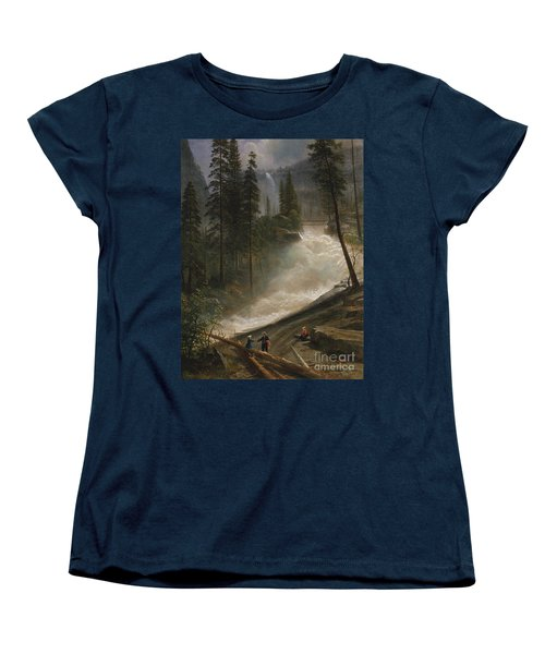 Nevada Falls Yosemite                                Women's T-Shirt (Standard Cut) by John Stephens
