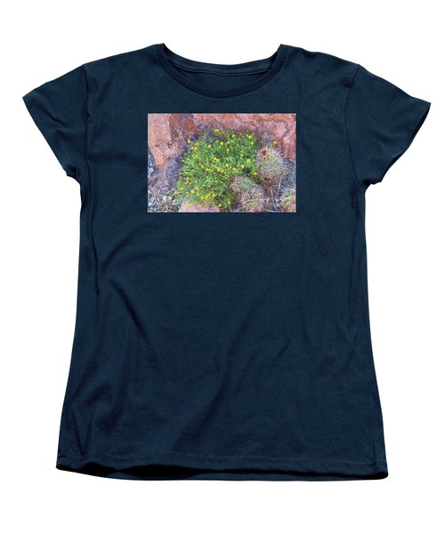 Women's T-Shirt (Standard Cut) featuring the photograph Nevada Yellow Wildflower by Linda Phelps