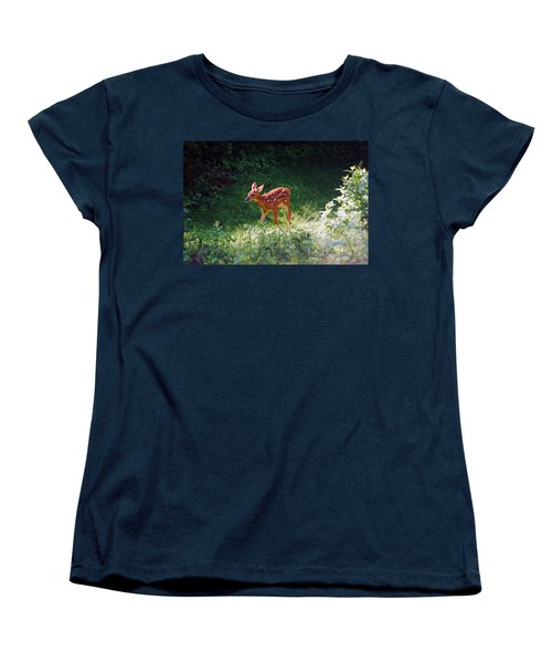 New Backyard Visitor Women's T-Shirt (Standard Cut) by Lori Tambakis