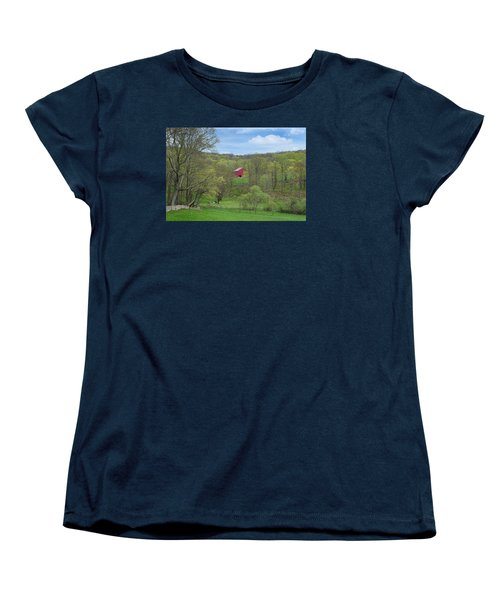 Women's T-Shirt (Standard Cut) featuring the photograph New England Spring Pasture by Bill Wakeley
