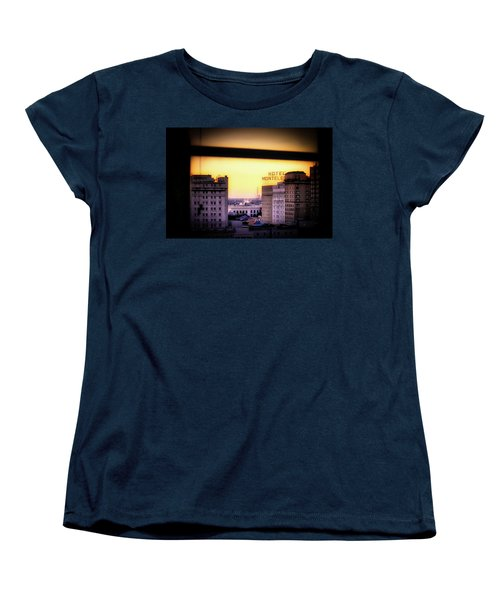 Women's T-Shirt (Standard Cut) featuring the photograph New Orleans Window Sunrise by Jim Albritton