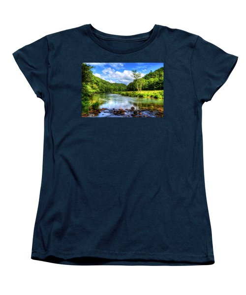 New River Summer Women's T-Shirt (Standard Cut) by Dale R Carlson