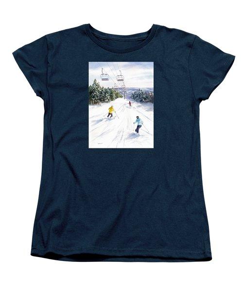 New Snow Women's T-Shirt (Standard Cut) by Vikki Bouffard
