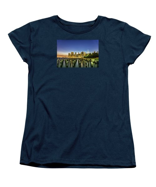 Women's T-Shirt (Standard Cut) featuring the photograph New York City From Brooklyn by Rafael Quirindongo