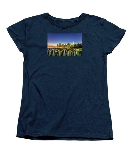 New York City From Brooklyn Women's T-Shirt (Standard Cut) by Rafael Quirindongo