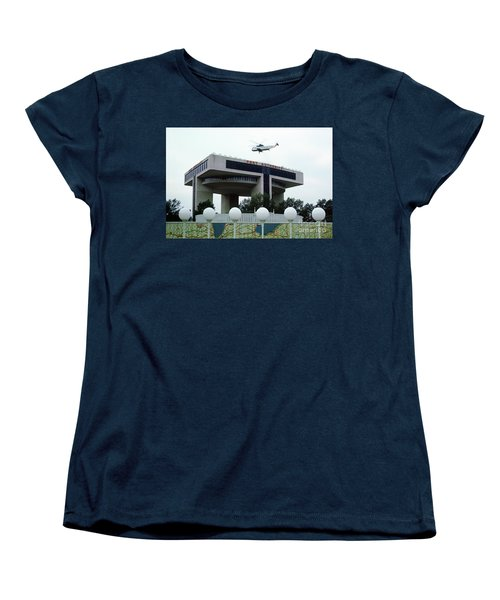 New York City Port Authority Helicopter Pad, New York World's Fa Women's T-Shirt (Standard Cut) by Photovault