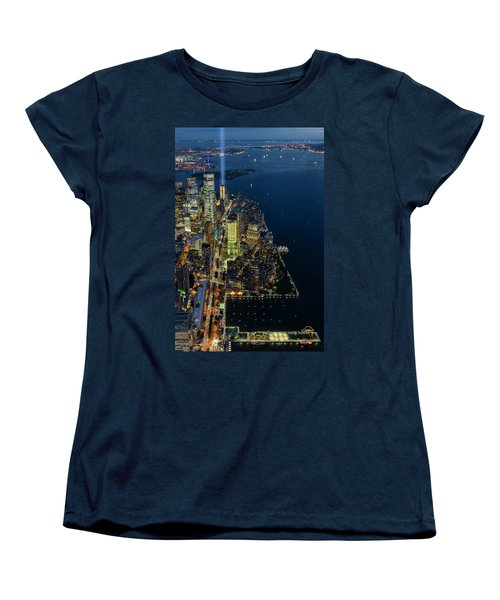 Women's T-Shirt (Standard Cut) featuring the photograph New York City Remembers 911 by Susan Candelario