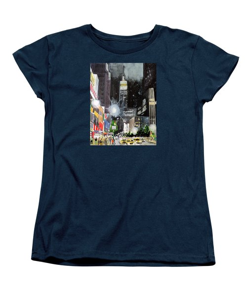 New York Night Women's T-Shirt (Standard Cut) by Tom Riggs