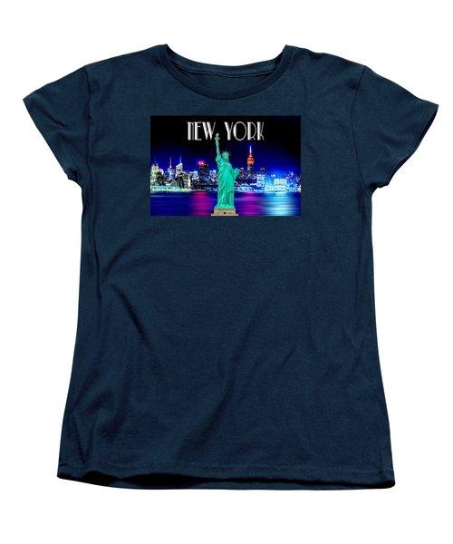 New York Shines Women's T-Shirt (Standard Cut) by Az Jackson