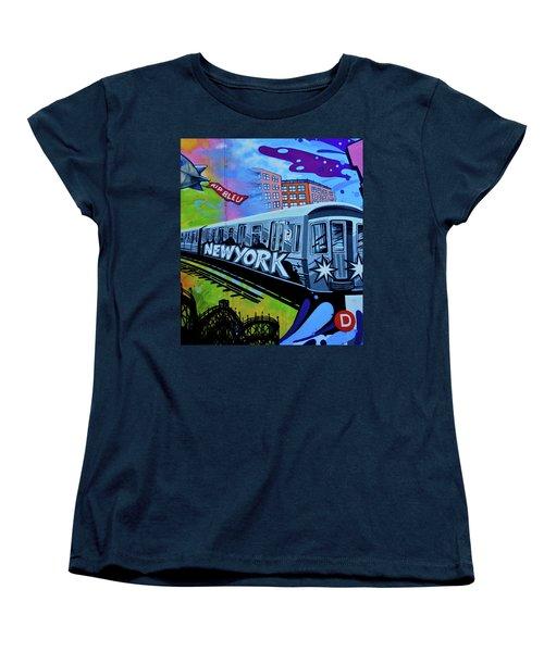 New York Train Women's T-Shirt (Standard Cut)