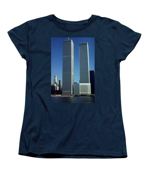 New York World Trade Center Before 911 - Architecture Women's T-Shirt (Standard Cut) by Art America Gallery Peter Potter
