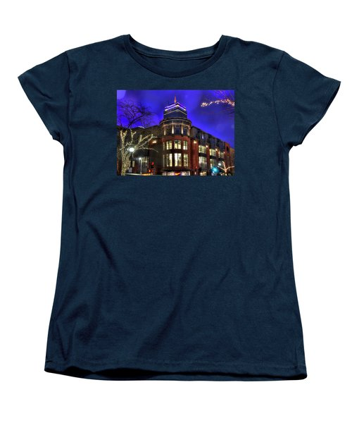 Women's T-Shirt (Standard Cut) featuring the photograph Newbury Street And The Prudential - Back Bay - Boston by Joann Vitali