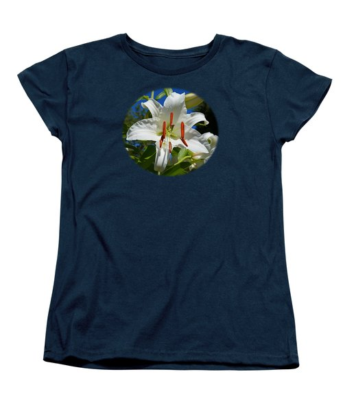 Women's T-Shirt (Standard Cut) featuring the photograph Newly Opened Lily by Nick Kloepping