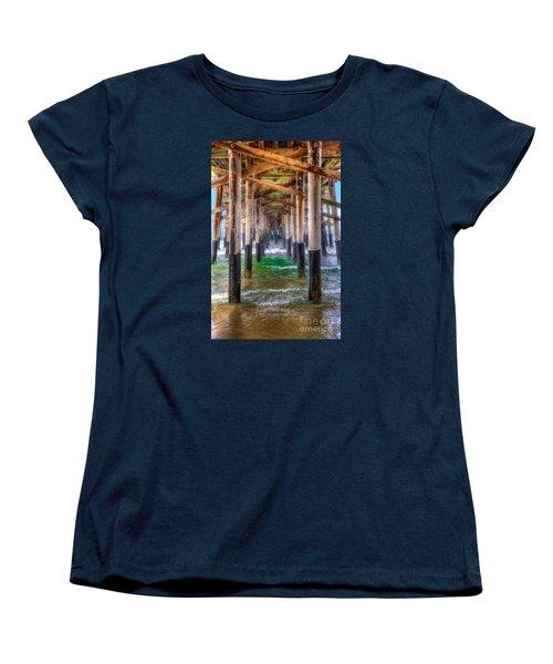 Women's T-Shirt (Standard Cut) featuring the photograph Newport Beach Pier - Summertime by Jim Carrell