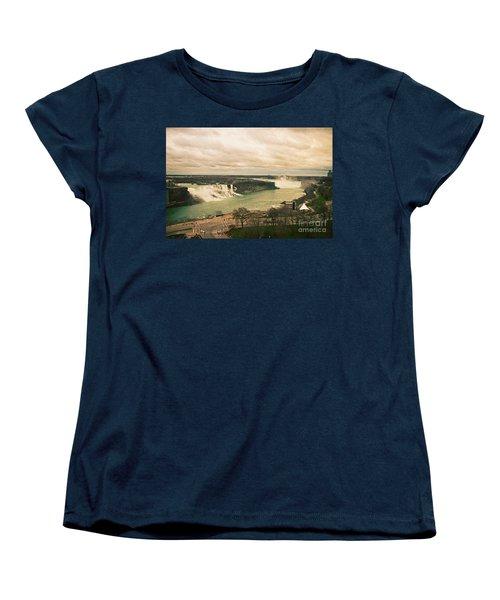Women's T-Shirt (Standard Cut) featuring the photograph Niagara Falls by Mary Machare