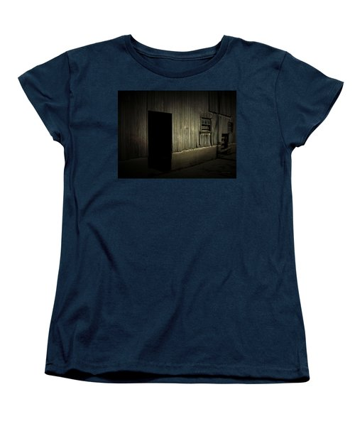 Women's T-Shirt (Standard Cut) featuring the photograph Night Barn by Cynthia Lassiter