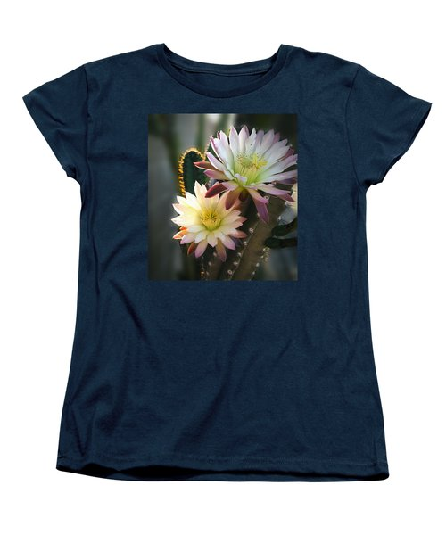 Women's T-Shirt (Standard Cut) featuring the photograph Night-blooming Cereus 3 by Marilyn Smith