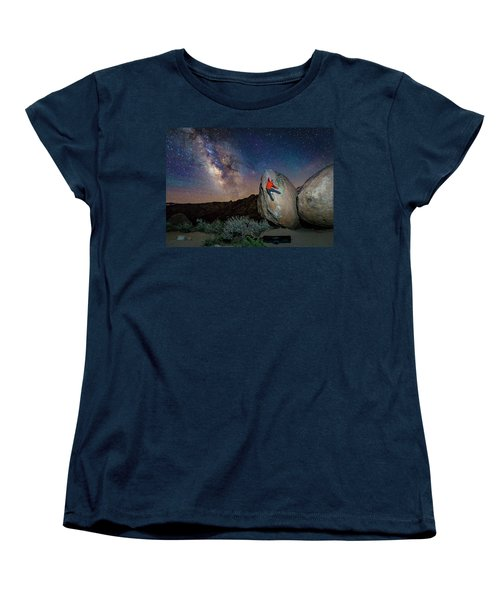 Night Bouldering Women's T-Shirt (Standard Cut) by Evgeny Vasenev