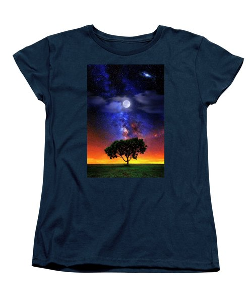 Night Colors Women's T-Shirt (Standard Cut) by Justin Kelefas