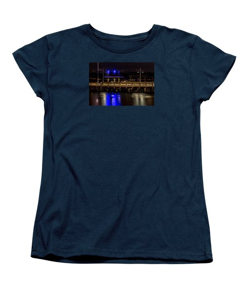 Night Falls On Old Town Pier Women's T-Shirt (Standard Cut) by Rob Green