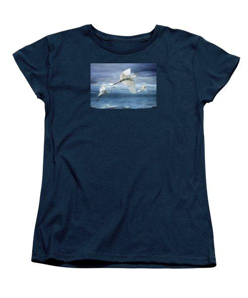Women's T-Shirt (Standard Cut) featuring the photograph Night Flight by Brian Tarr