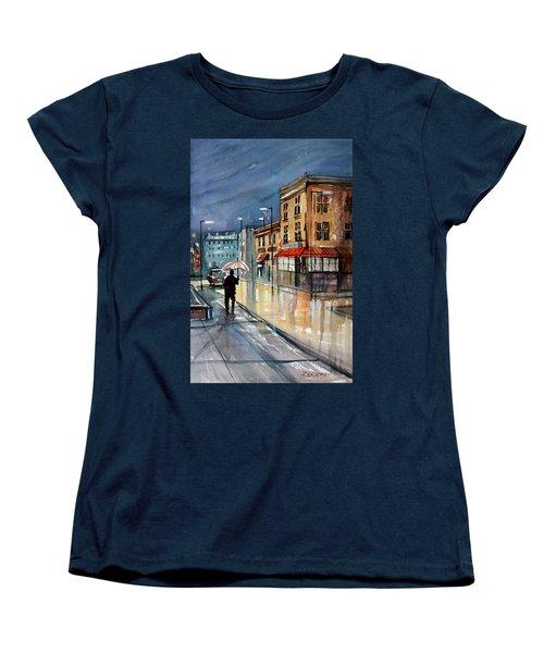 Night Lights Women's T-Shirt (Standard Cut) by Ryan Radke