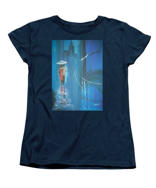 Night Love Walk Women's T-Shirt (Standard Cut) by Raymond Doward