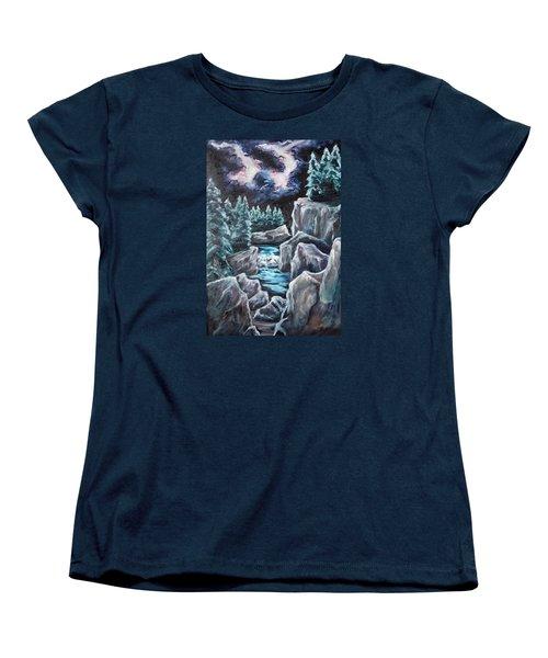Night Of Stars Women's T-Shirt (Standard Cut) by Cheryl Pettigrew