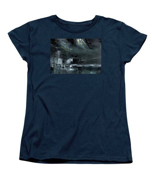 Women's T-Shirt (Standard Cut) featuring the painting Night Out by Anil Nene